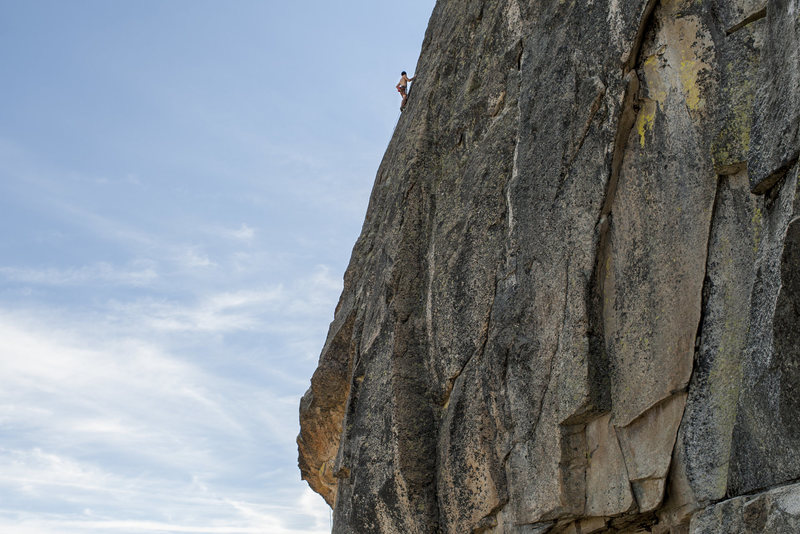 Rock Climbing Photo: The last 30m of gravity pool is mid to hard 5.10 c...