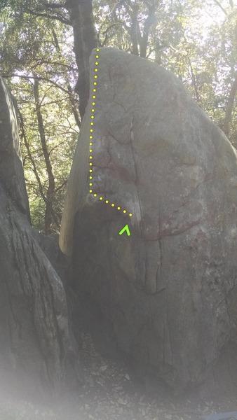 Rock Climbing Photo: Funky Arete.