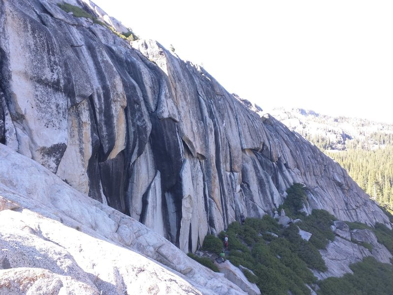 August 2015 - snapshot from the west side of the crag