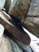 Rock Climbing Photo: The chimney above on Hour of Power (also for Kingf...