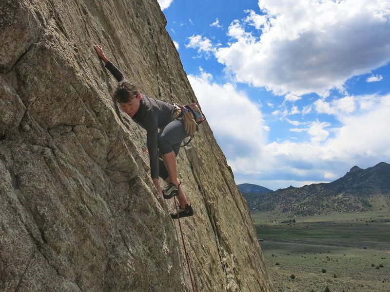 Rock Climbing Photo: Supe Vitali dancing up 13b!