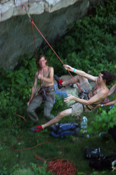 Gumby pendulum on Hiking Under the Influence - Photo by Brandon Hall.