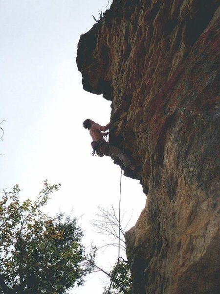 Second crux of Alamo Arete.