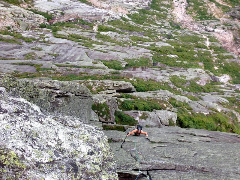 Rock Climbing Photo: Geoff Wilson on the the left hand variation, Wind ...