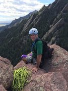 Rock Climbing Photo: Bobby Wilson happy to be at the summit rap station...