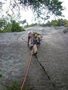 Rock Climbing Photo: Sweet 5.6ish crack below the second belay.