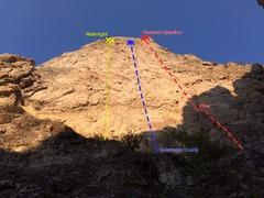 """Rock Climbing Photo: A photo of the """"Main Wall"""" at Frog Rock."""