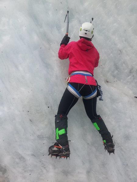 Rock Climbing Photo: Coleman Glacier ice