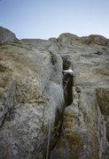 Rock Climbing Photo: Pitch 1. Fran Bagenal, 1989.