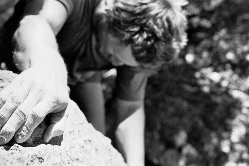 Rock Climbing Photo: La Petit Verdon, black and white