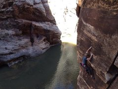 Rock Climbing Photo: Simon on Winsloner, all alone.