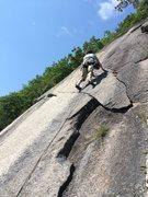 Rock Climbing Photo: S. Matz starts the finger crack