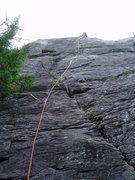 "Rock Climbing Photo: ""The Prize"" far left on Sq. Ledge's fron..."