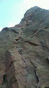 Rock Climbing Photo: Bastille crack Eldorado canyon