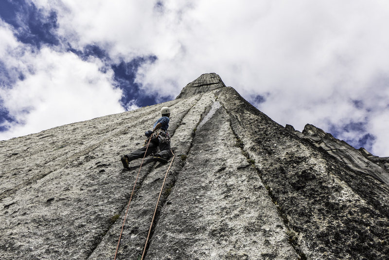 Rock Climbing Photo: Steven Lucarelli on pitch 12. July 2015