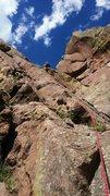 Rock Climbing Photo: Blake Collins heading up.