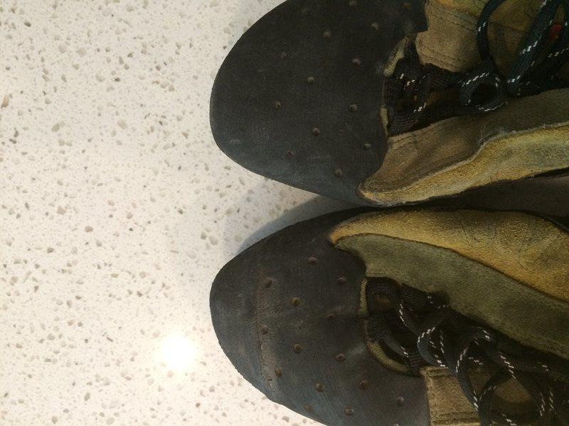 Rock Climbing Photo: Komito boots resole job 1