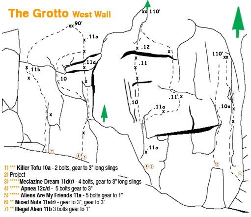 west grotto<br>