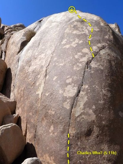 Charles Who? (5.11b), Joshua Tree NP