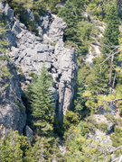 Rock Climbing Photo: Treasure Wall viewed from Midway Rock. Paradise Ch...
