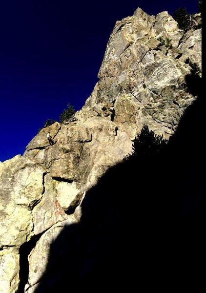 Rock Climbing Photo:  John Martinez projecting the Humungor Flake at Th...