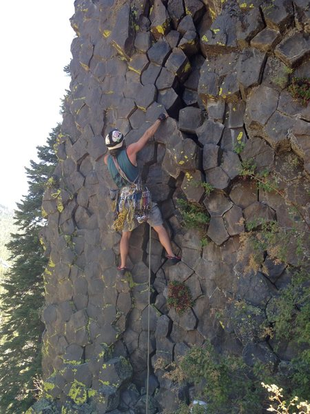Rock Climbing Photo: The helmet was the most useful thing! Lots of lose...