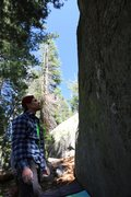 Rock Climbing Photo: Castle peak bouldering in Tahoe