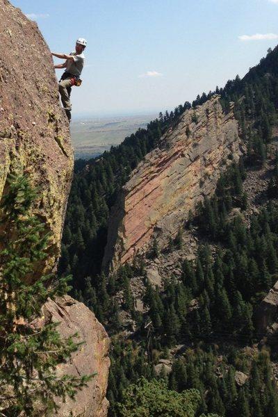 Glen on the upper arête.<br> <br> Photo: Jay D.