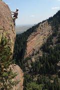 Rock Climbing Photo: Glen on the upper arête.  Photo: Jay D.
