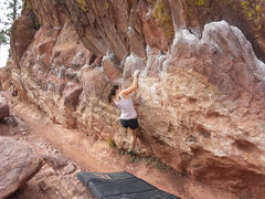Rock Climbing Photo: Having fun on the monkey traverse.