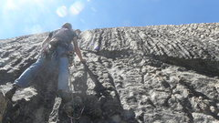 Rock Climbing Photo: Andy Gorrill on pitch two of Funnel Runnel.