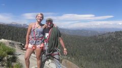 Rock Climbing Photo: Lisa Rodgers and Andy Gorrill on the summit of Los...