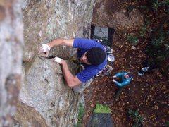 Rock Climbing Photo: Climbing the last few moves