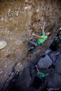Rock Climbing Photo: Charles Schrammel on Hot Lava Lucy.  Photo - Kyle ...