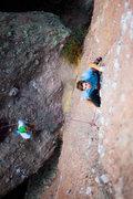Rock Climbing Photo: Nathaniel Potter warming up on POD.  Photo - Kyle ...