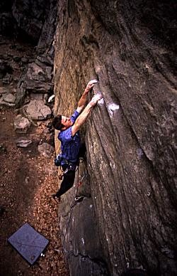 Rock Climbing Photo: FA of Absolute.  Photo by Tony Veltri.