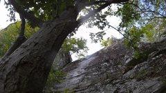 Rock Climbing Photo: About midway up Deep Lichen.