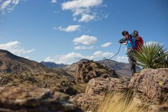 Rock Climbing Photo: Coiling up after establishing one of the hardest s...