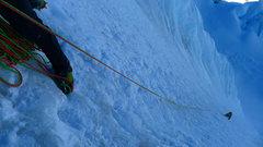 Rock Climbing Photo: Climbing the French Direct.