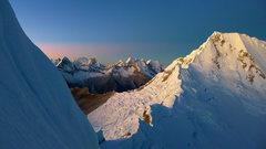 Rock Climbing Photo: Quitaraju as seen from several pitches up the Fren...