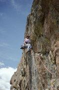 Rock Climbing Photo: Bill Roberts cruising Outlander, 1993.