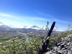 Rock Climbing Photo: Tibetan prayer flags along the morain trail.