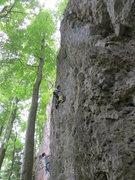 Rock Climbing Photo: Me at the crux.