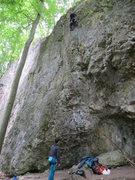 Rock Climbing Photo: Fanny at the top of Alf