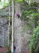 Rock Climbing Photo: Fanny working with Professor Nachtigaller