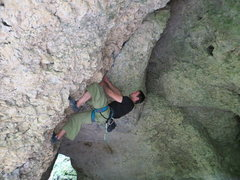 Rock Climbing Photo: Shawn cave fighting
