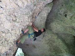 Rock Climbing Photo: Shawn cave fighting