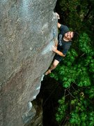 Rock Climbing Photo: Chandler Davis getting 2nd ascent