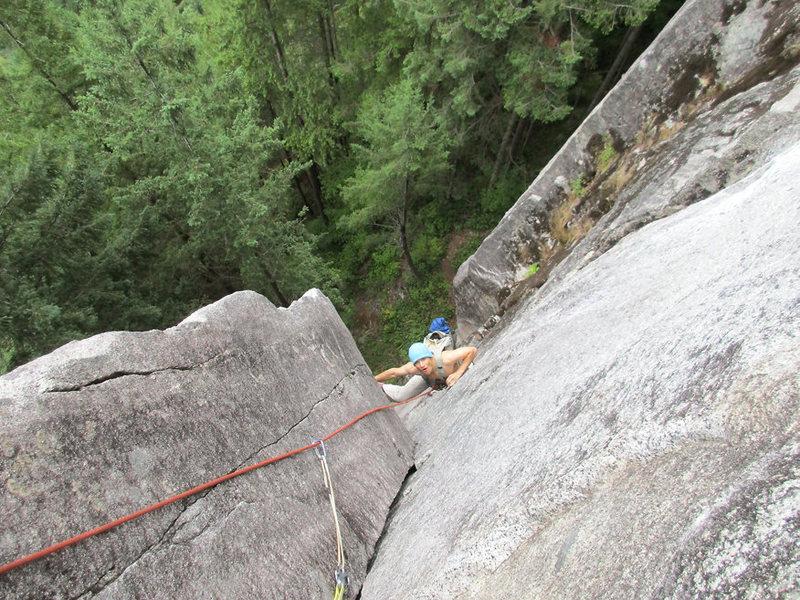 Rock Climbing Photo: P1.  Light sprinkle.