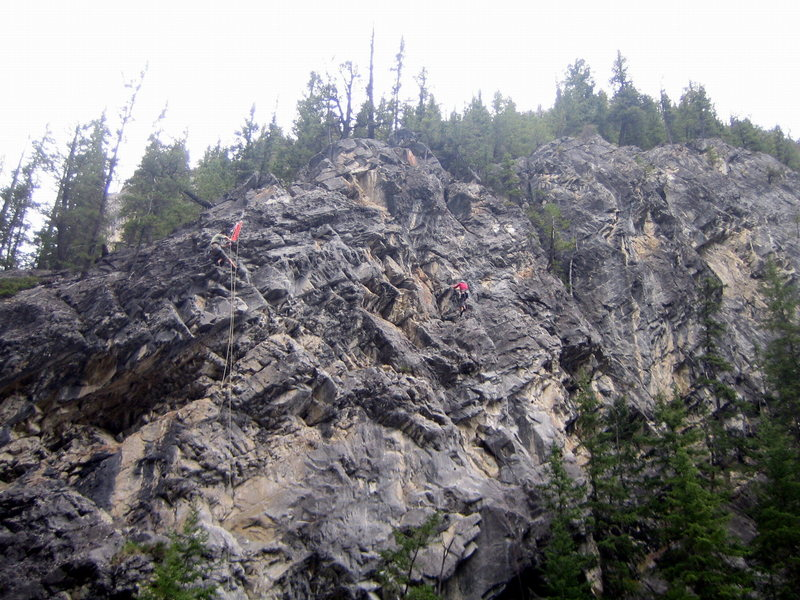 Rock Climbing Photo: Old picture of cat's eye. Climber on right is on c...